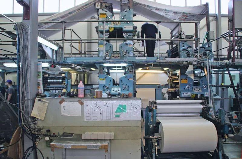 Собственный печатный цех компании ТРИЦ