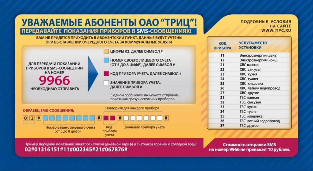 Предоставляемые услуги абонентам ОАО ТРИЦ